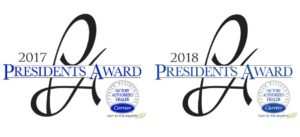 17 18 Presidents Award